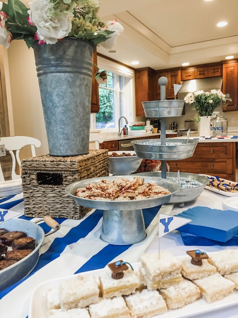 Byu Graduation Party Ideas In Blue And White