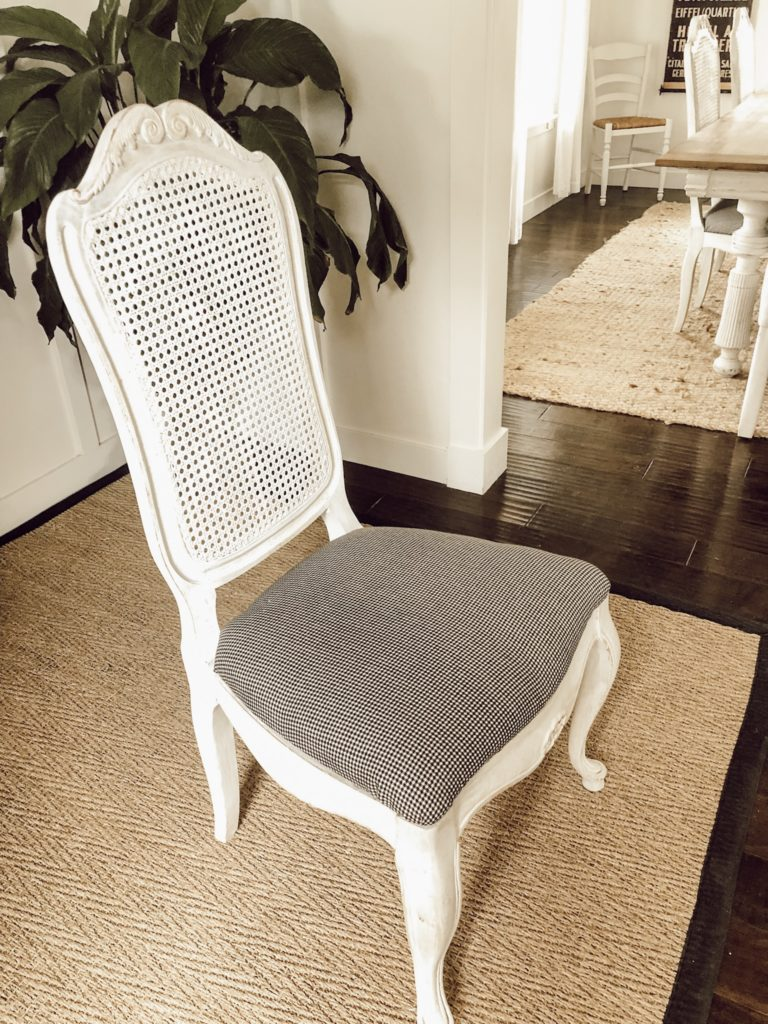 How to recover a dining room chair seat - Karins Kottage