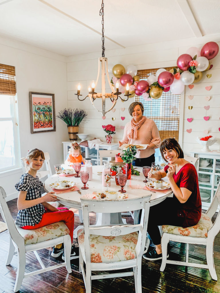 Galentine party group