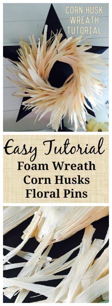 Corn husk fall wreath quick tutorial